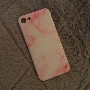 Pink and White Marble iPhone 7 case